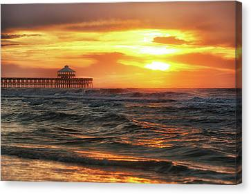 Folly Beach Pier Sunrise Canvas Print