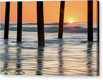 Folly Beach Sunrise Charleston South Carolina Canvas Print by Mark VanDyke