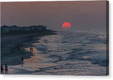 Folly Beach Sunrise Canvas Print by RC Pics