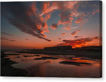 Folly Beach Sunset Canvas Print by RC Pics