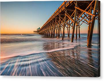 Folly Pier Canvas Print by RC Pics