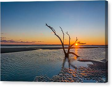 Folly Sunset Canvas Print