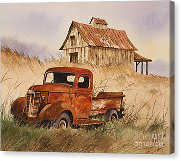 Old Trucks Canvas Print - Fond Country Memories by James Williamson