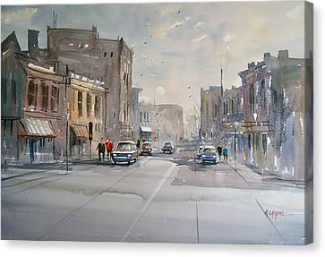Fond Du Lac - Main Street Canvas Print by Ryan Radke