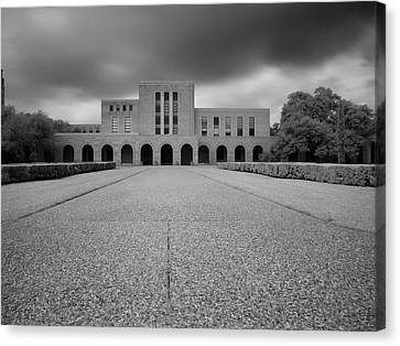 Canvas Print featuring the photograph Fondren Library  by Joshua House