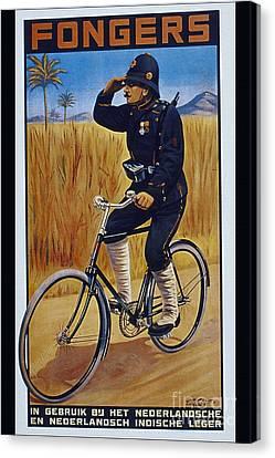 Fongers In Gebruik Bil Nederlandsche En Nederlndsch Indische Leger Vintage Cycle Poster Canvas Print by R Muirhead Art