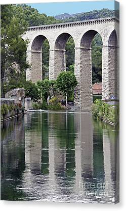Canvas Print featuring the photograph Fontaine De Valcluse In Provence by Stan and Anne Foster