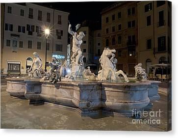 Fontana Del Nettuno I Canvas Print by Fabrizio Ruggeri