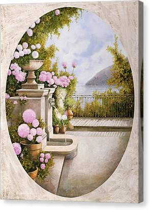 Fontana Sul Terrazzo Canvas Print by Guido Borelli