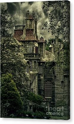 Fonthill With Storm Clouds Canvas Print