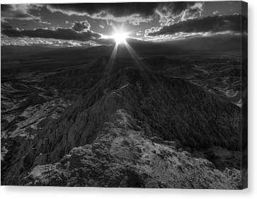 Font's Point Sunset Canvas Print by Peter Tellone