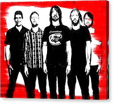 Foo Fighters Graphic Tribute Canvas Print by Dan Sproul