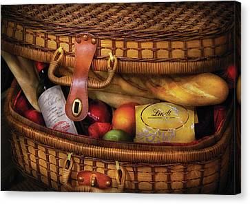 Food - Let's Picnic Canvas Print by Mike Savad
