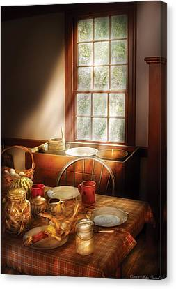 Food - Sunday Brunch Canvas Print by Mike Savad