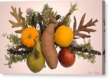 Canvas Print featuring the digital art Food Bouquet by Lise Winne