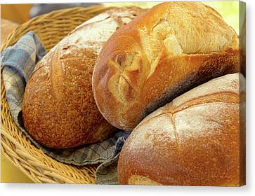 Canvas Print featuring the photograph Food - Bread - Just Loafing Around by Mike Savad
