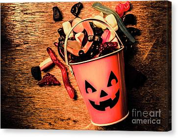 Food For The Little Halloween Spooks Canvas Print