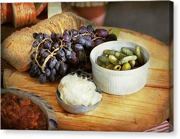 Food - Fruit - Gherkins And Grapes Canvas Print by Mike Savad
