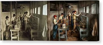 Food - Ice Cream - Sanitary Ice Cream Cones 1917 - Side By Side Canvas Print