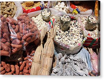 Canvas Print featuring the photograph Food Market by Aidan Moran
