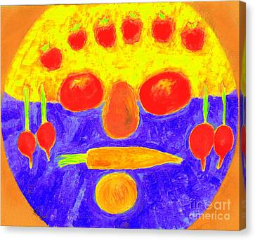 Canvas Print featuring the painting Foodman  by Richard W Linford