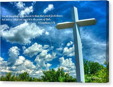 Foolishness Of The Cross Canvas Print