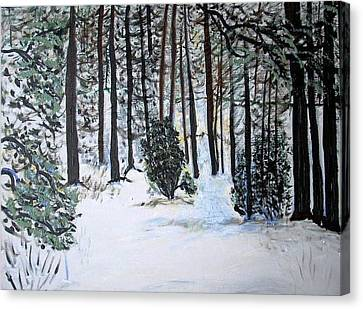 Fool's Wood Canvas Print by Leslie Byrne