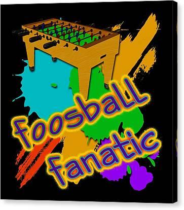 Foosball Fanatic Canvas Print by David G Paul