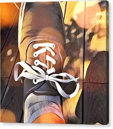 Foot At Rest Canvas Print