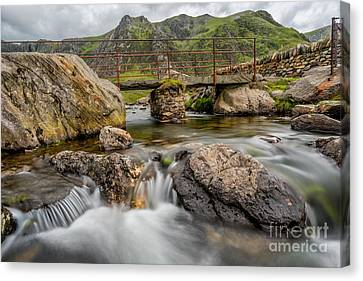 Foot Bridge Snowdonia Canvas Print by Adrian Evans