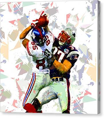 Canvas Print featuring the painting Football 116 by Movie Poster Prints