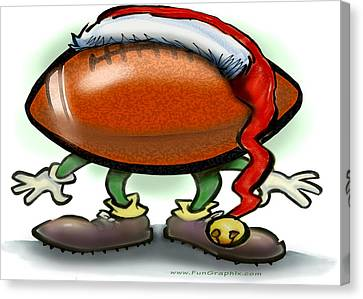 Football Christmas Canvas Print by Kevin Middleton