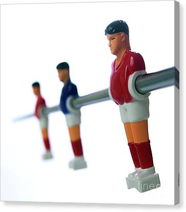 Football Figurines Canvas Print by Bernard Jaubert