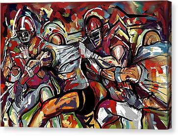 Football Frawl Canvas Print
