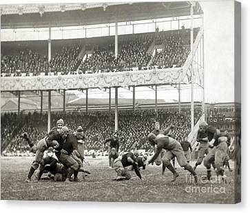 Football Game, 1916 Canvas Print by Granger