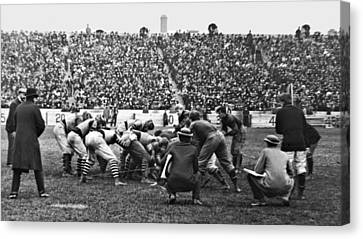 Football Game University Of Pennsylvania Vs Lafayette University C 1896 Canvas Print by A Gurmankin
