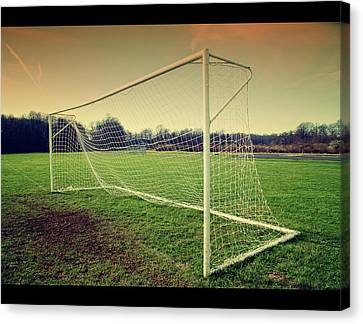 Football Goal Canvas Print by Federico Scotto