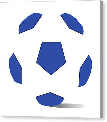 Football Image In Dazzling Blue And White Space Canvas Print by David Smith