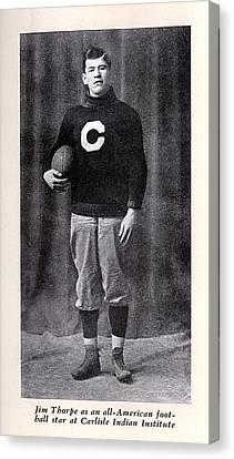 Football, Jim Thorpe In Carlisle Indian Canvas Print by Everett