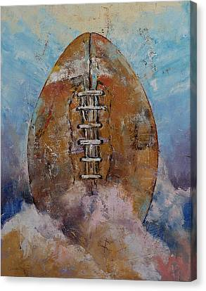 Football Canvas Print by Michael Creese