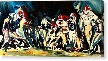 Football Night Canvas Print