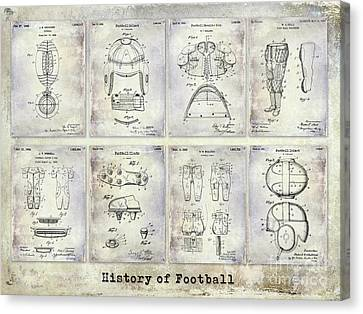 Football Patent History Canvas Print