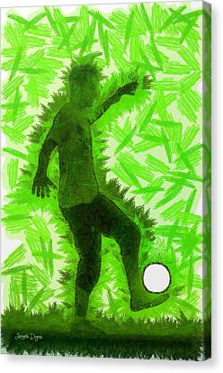 Football Player - Da Canvas Print by Leonardo Digenio