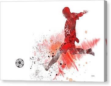 Football Player Canvas Print by Marlene Watson