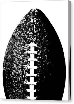 Football Poster Black White Canvas Print by Flo Karp