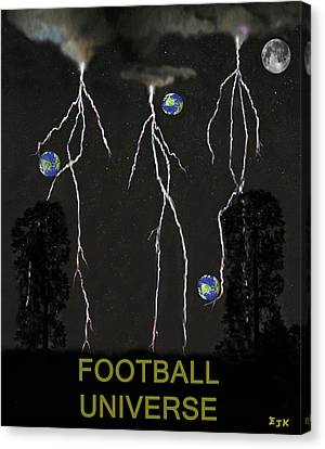 Football Universe Canvas Print by Eric Kempson