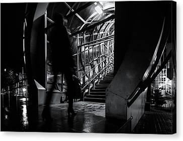 Canvas Print featuring the photograph Footbridge Blur by John Williams