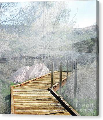 Footbridge In The Clouds Canvas Print