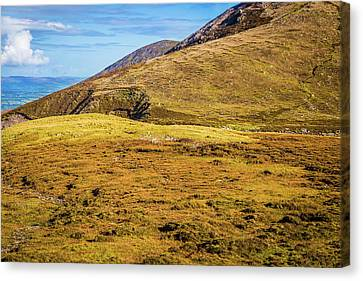 Canvas Print featuring the photograph Foothill Of The Macgillycuddy's Reeks In Kerry Ireland by Semmick Photo