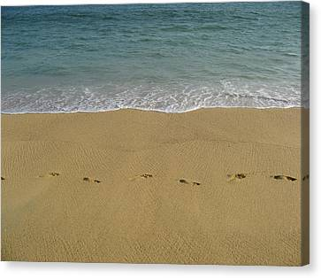 Footprints In Acapulco 2 Canvas Print